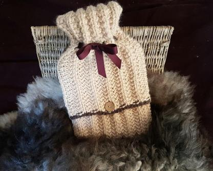 Beginner's hot water bottle cover