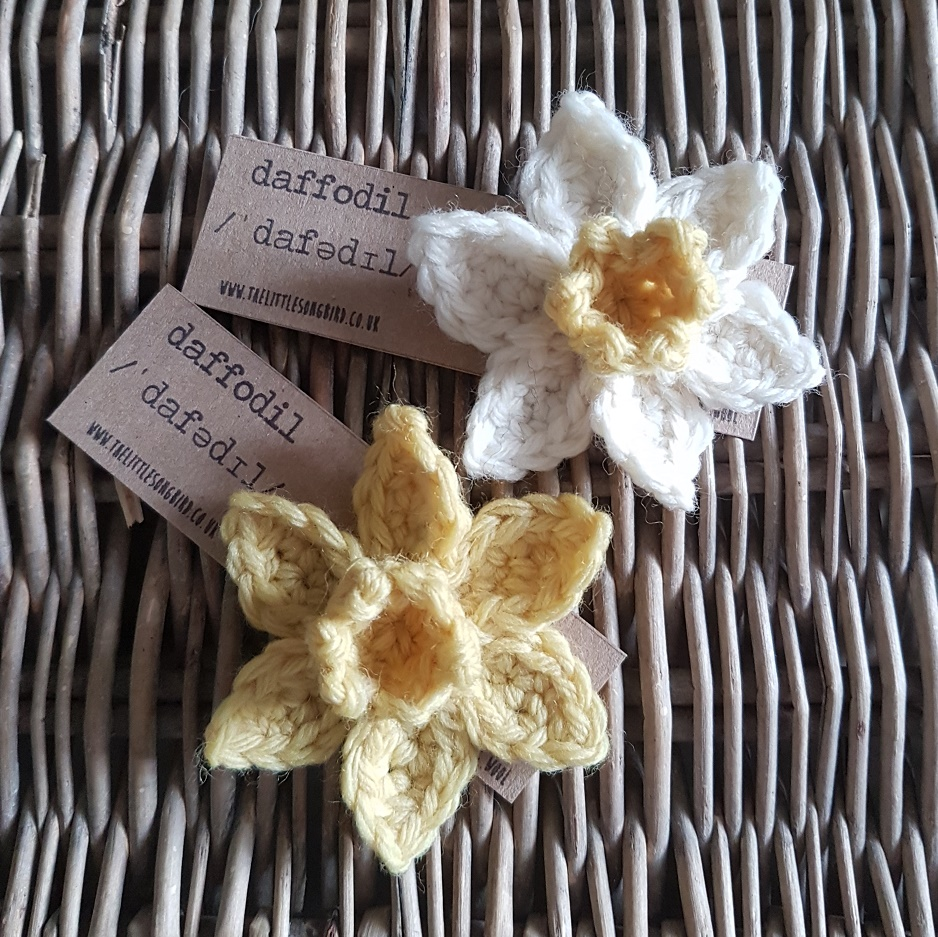 Crocheted Daffodil Tutorial From The Little Songbird Knitting Co