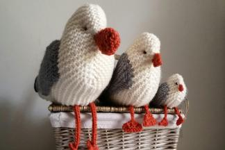 Our knitted birds