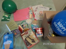 about 1/4 of the things I was sent for my birthday