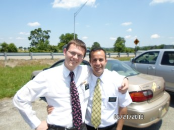 Elder Thatcher and myself at the end of our exchange