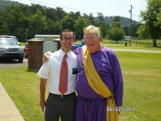 My namesake and myself at the 1st Annual Book of Mormon Festival of the Christ Restoration Branch