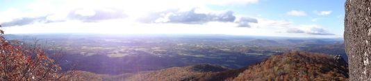 Panoramic from the summit of our hike up to Sharp Top today =) (courtesy of Elder Vest)