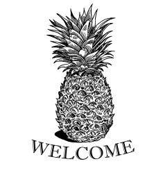 pineapple print welcome designs stencil printable digital watercolor weeks downloads worth cottage market printables graphics collages todays ones thecottagemarket them