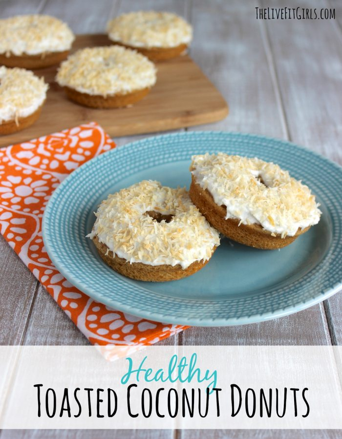 Healthy Toasted Coconut Donuts