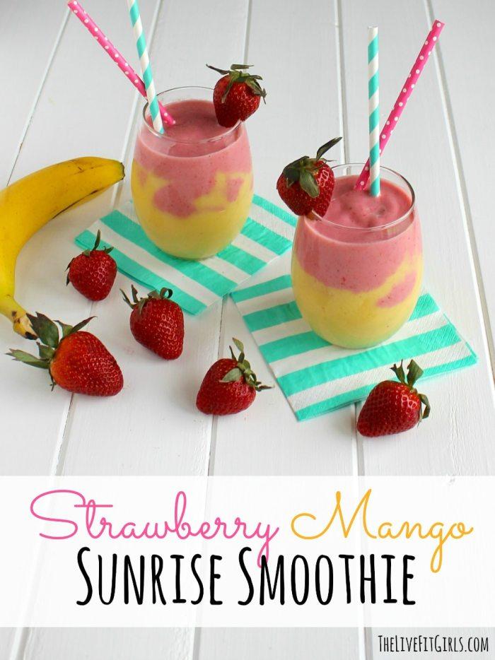 Strawberry Mango Sunrise Smoothie