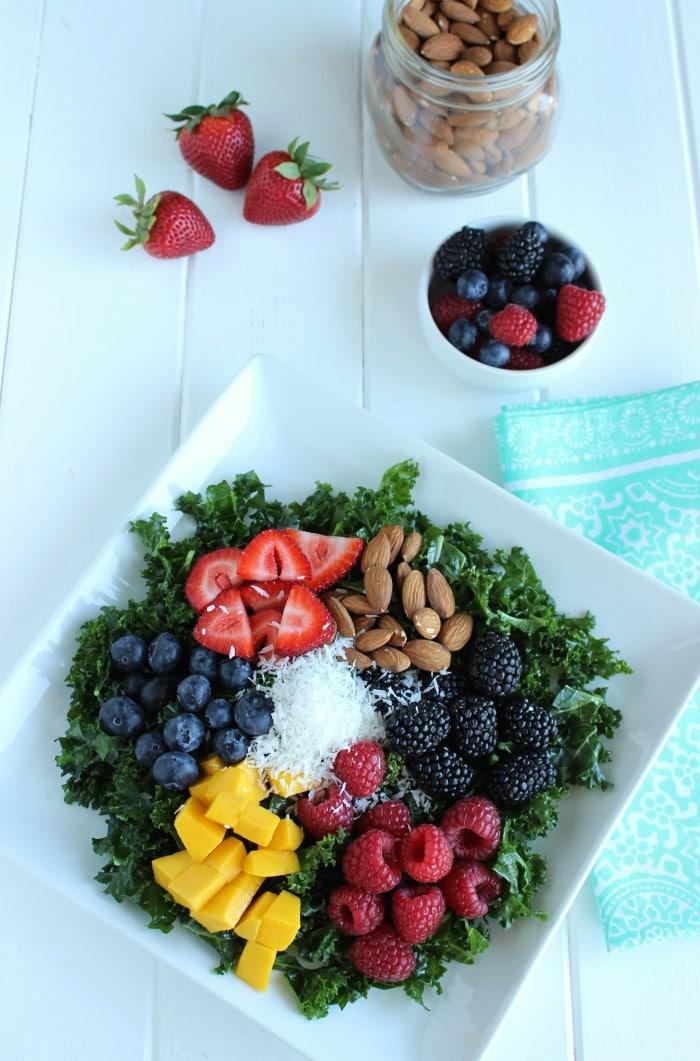 Summer Berry Kale Salad