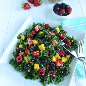 Summer Berry Kale Salad ☀