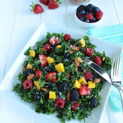 Summer Berry Kale Salad ☀