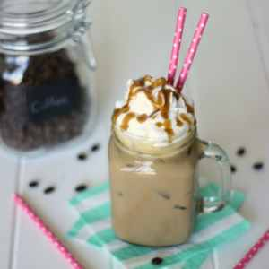 Skinny Caramel Iced Latte