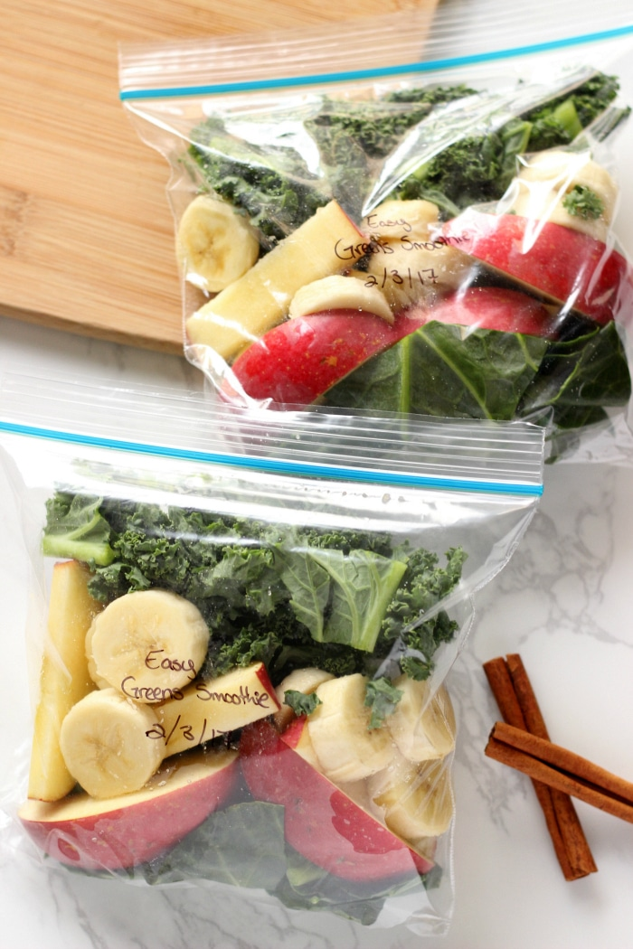 How to meal prep smoothies to save time