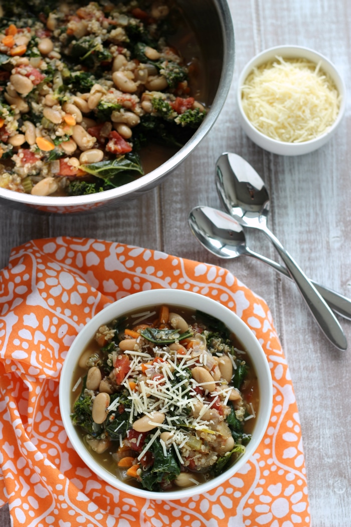 White Bean Kale Quinoa Soup