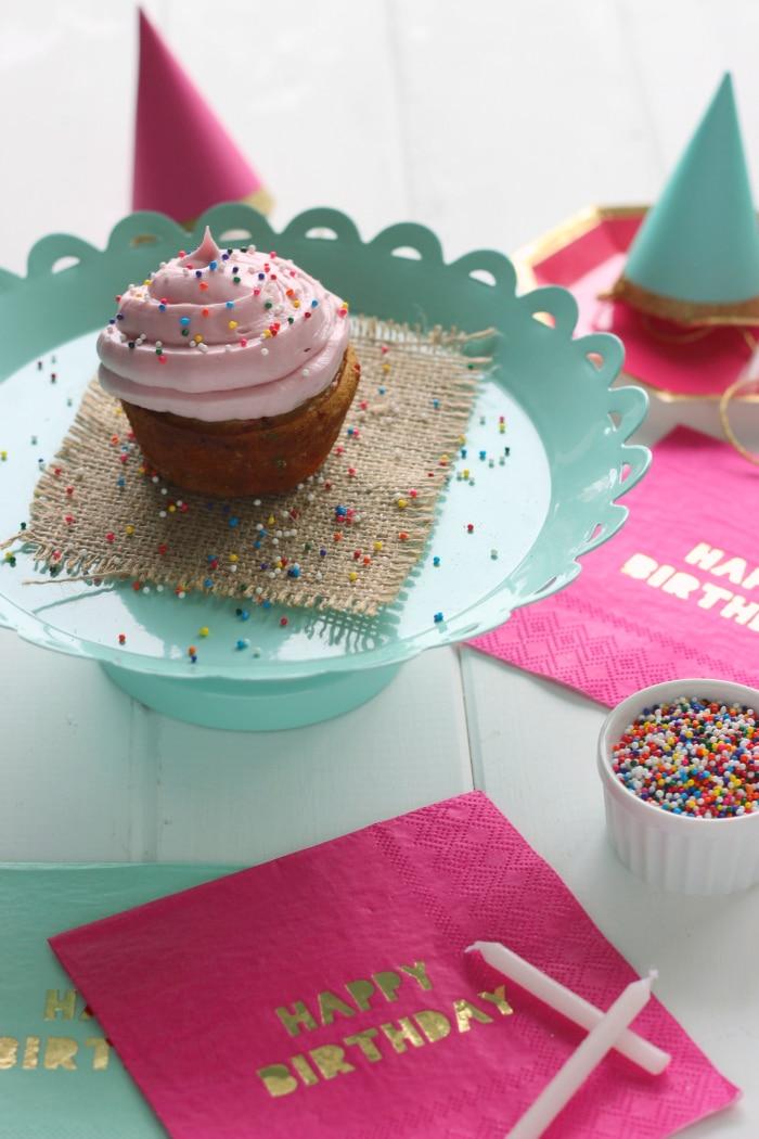 Single Serve Funfetti Cupcake