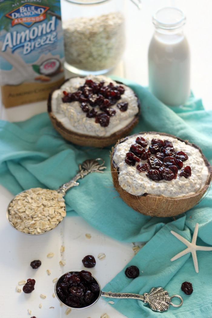Coconut Cherry Chia Overnight Oats