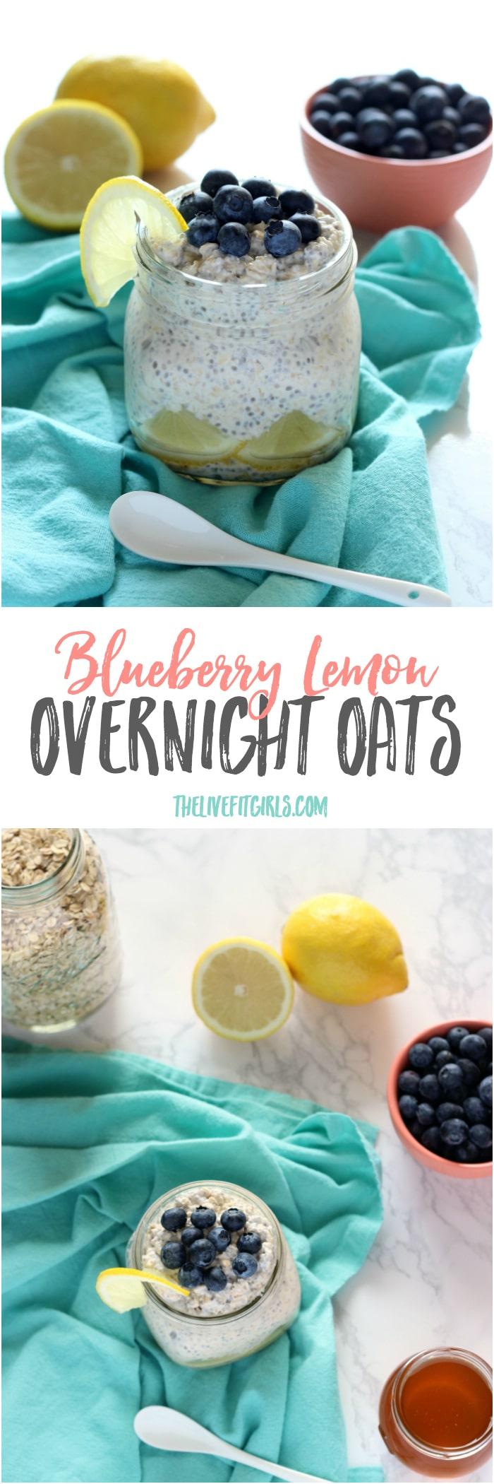 Blueberry Lemon Overnight Oats Pin
