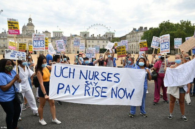 NHS pay protests