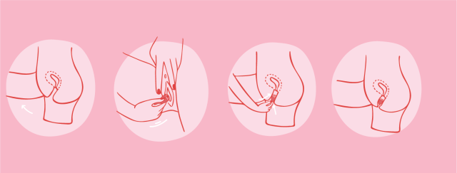 Inserting your menstrual cup