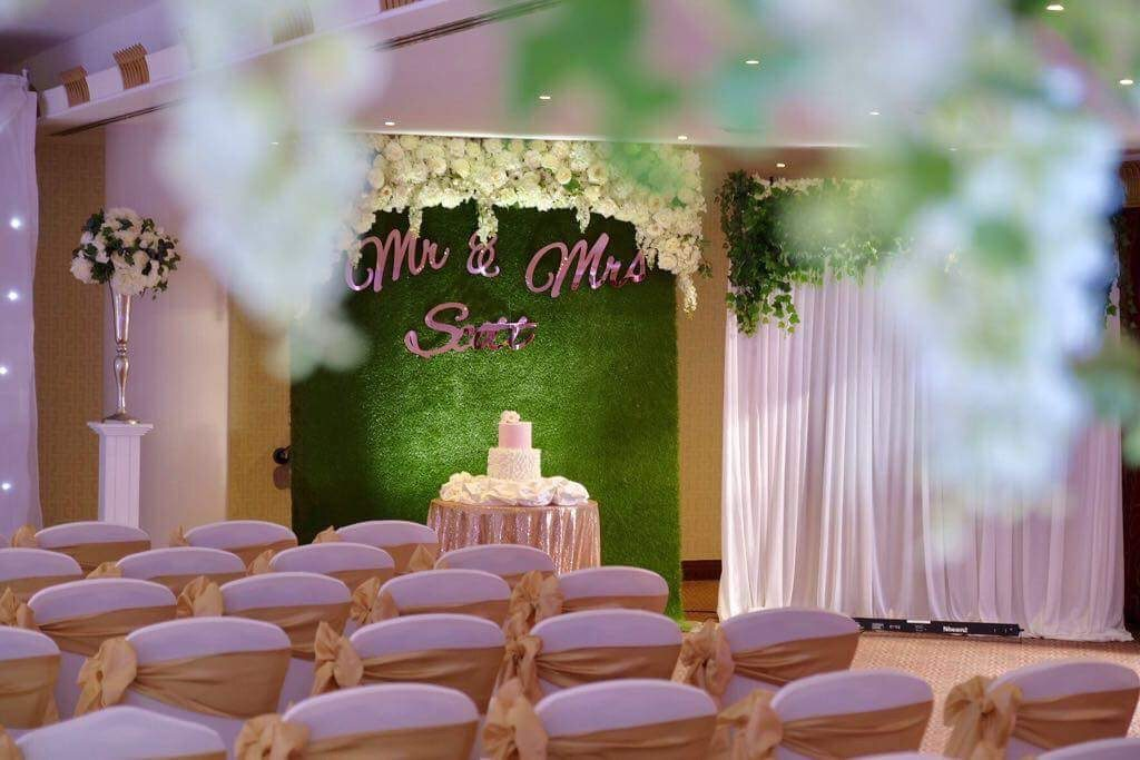 Wedding Cake Backdrop by KRN Events Liverpool