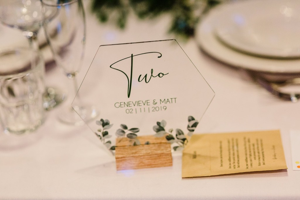 Table number for wedding table