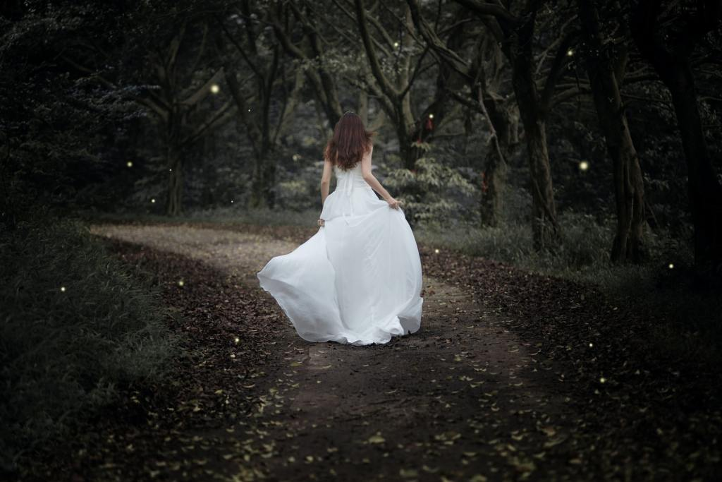 Photo by Kenny Luo on Unsplash bride walking in forest