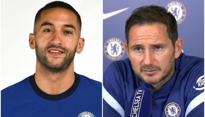 Chelsea Manager, Frank Lampard Delivers Date When Ziyech will Return From Injury