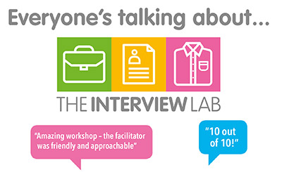 The Interview Lab flyer