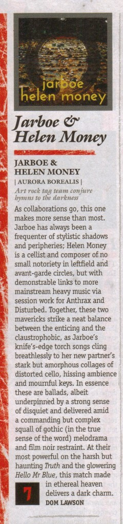 Jarboe & Helen Money_Metal Hammer_review_April 2015 Issue