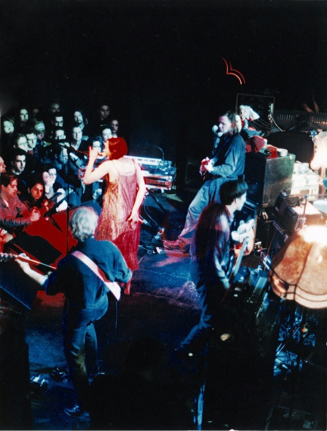 on stage 1997 London. final show of Swans tour.