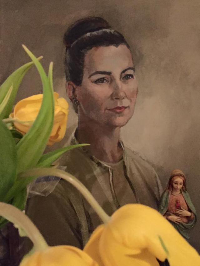 oil portrait of my Mother