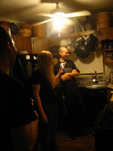 Colin Marston and Jarboe at Mothercrow House. photo by Kevin Hufnagel