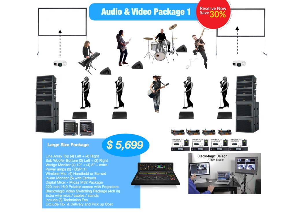 large AV rental package