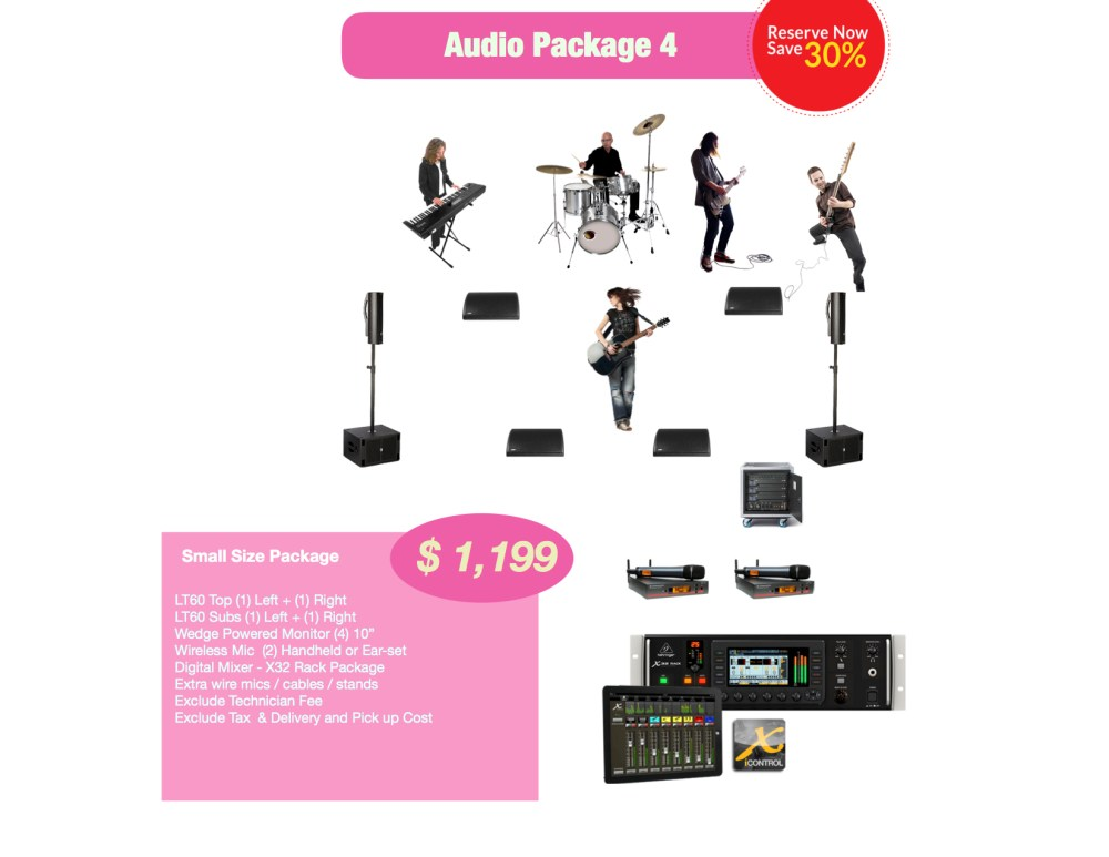 Small Audio rental package