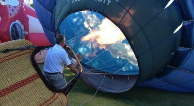 Balloonfest charging per-person entry fee with free parking
