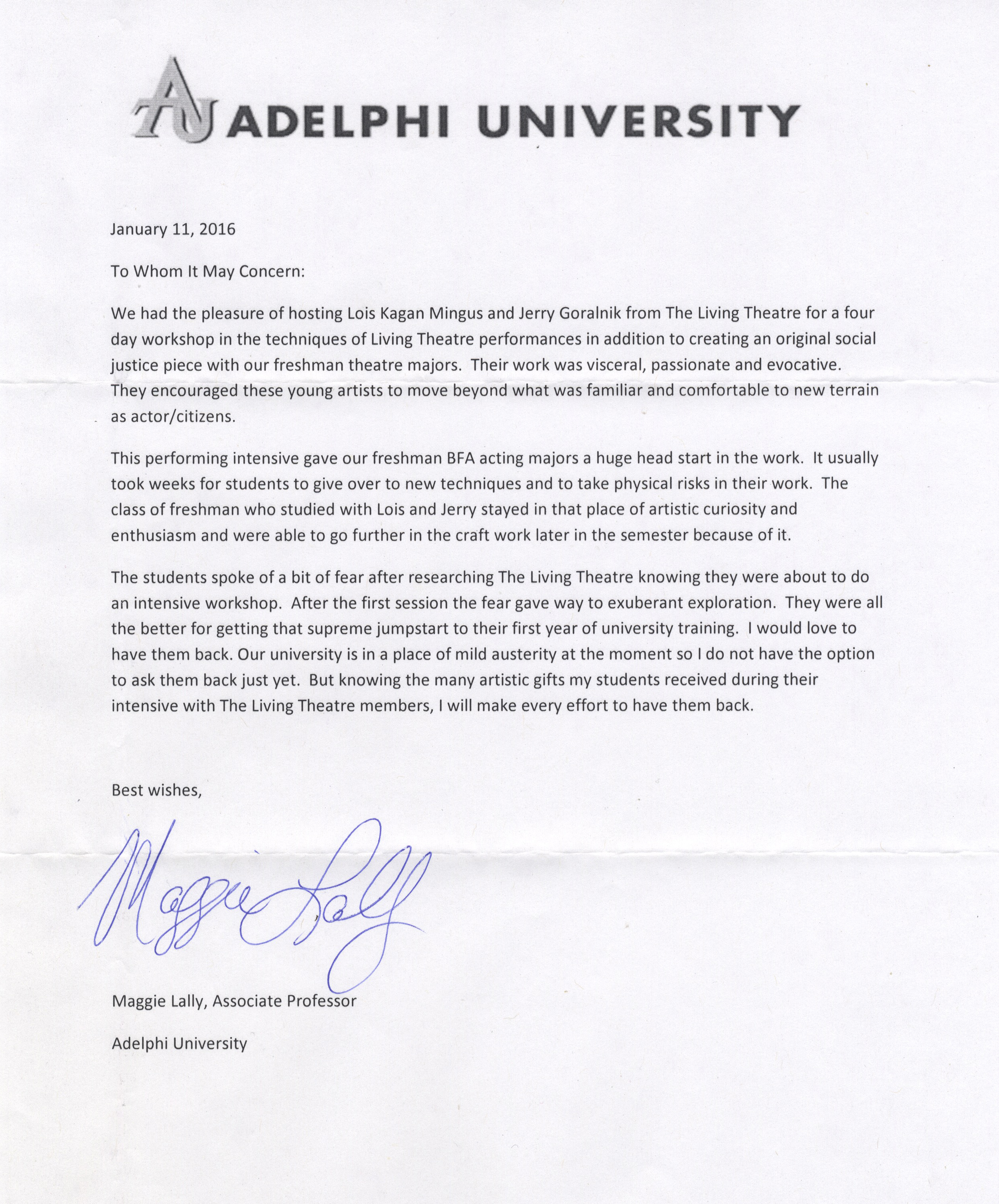 university of new hampshire letter of recommendation