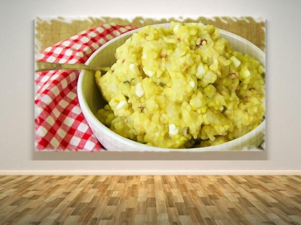 painting of potato salad