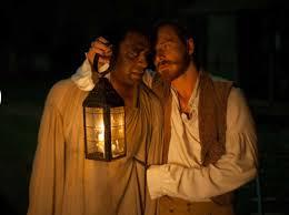 Ejiofor (left); Fassbender (photo credit Weinstein Pictures)