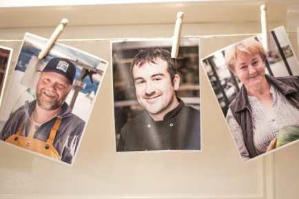 Stephane from Gannet Fishmongers, Jonathan from Lisloughrey Lodge and Cait Curran from Cait Curran's Organic Vegetables