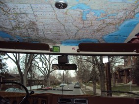 cab with map