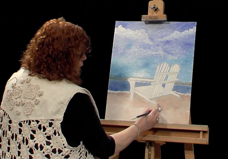 Beginner painting lessons to be shown on local TV