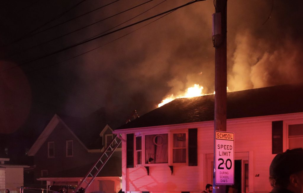 Gloucester fire contained to attic