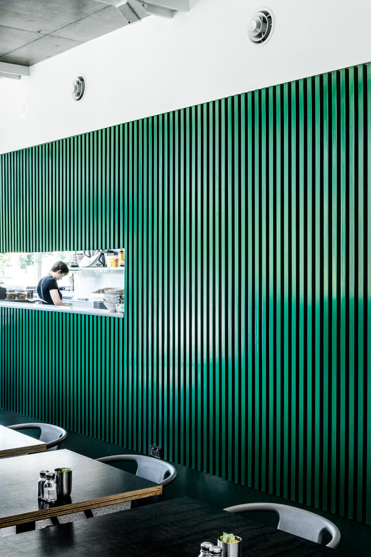 Local Interior Design- Pitch + Fork Cafe designed by Georgia Cannon