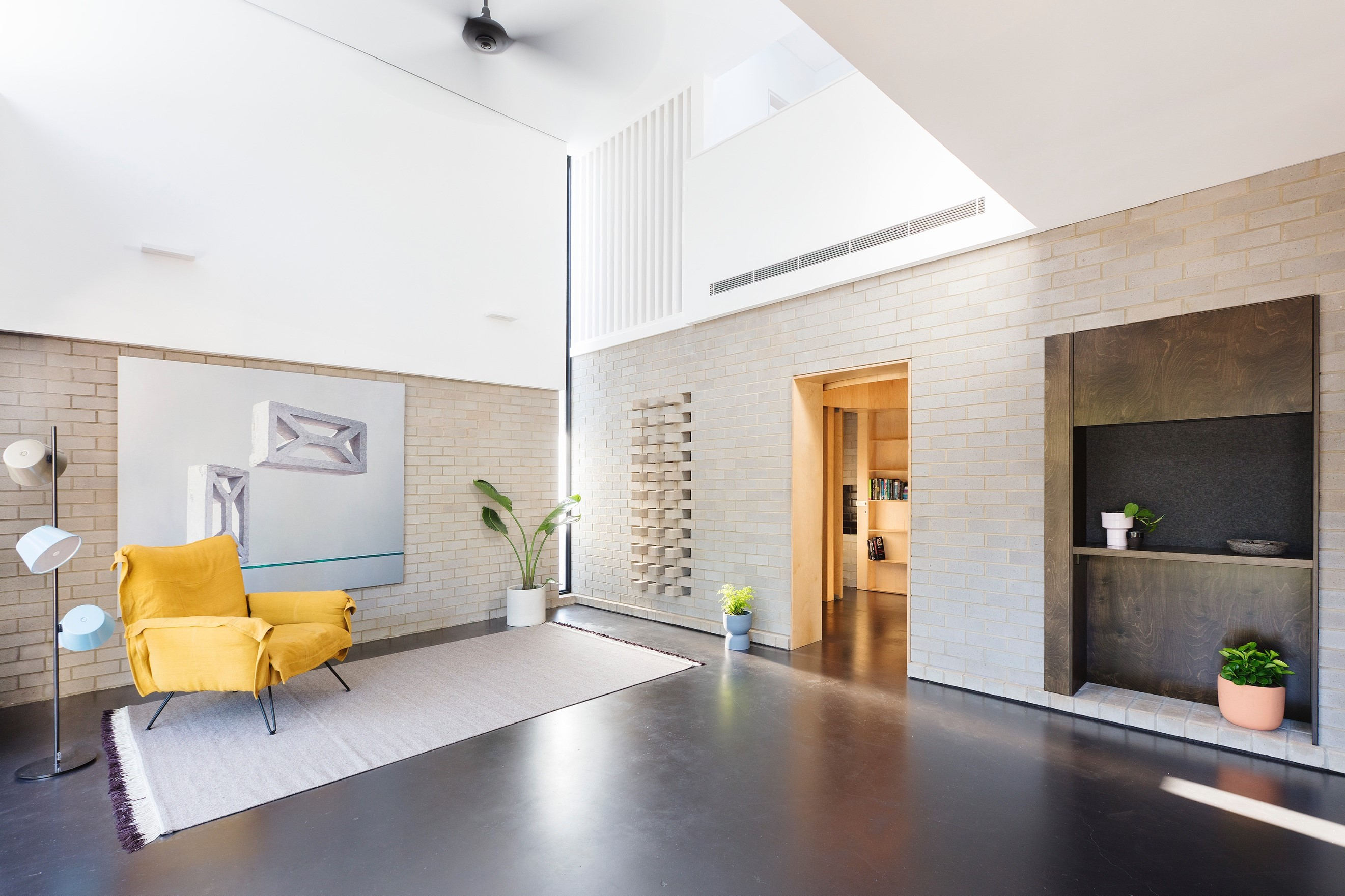 The Double Height Living Area On The Lower Floor Hints A Glimpse Of The Crisp Light Palette To Be Awaited On Th