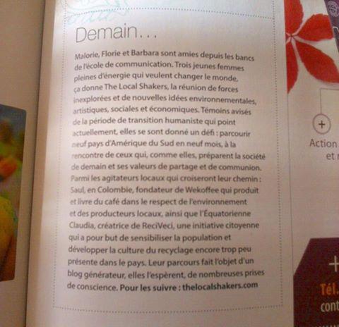The Local Shakers dans le magazine Happinez