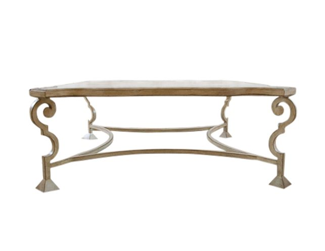 custom louis xvi style antique glass coffee table