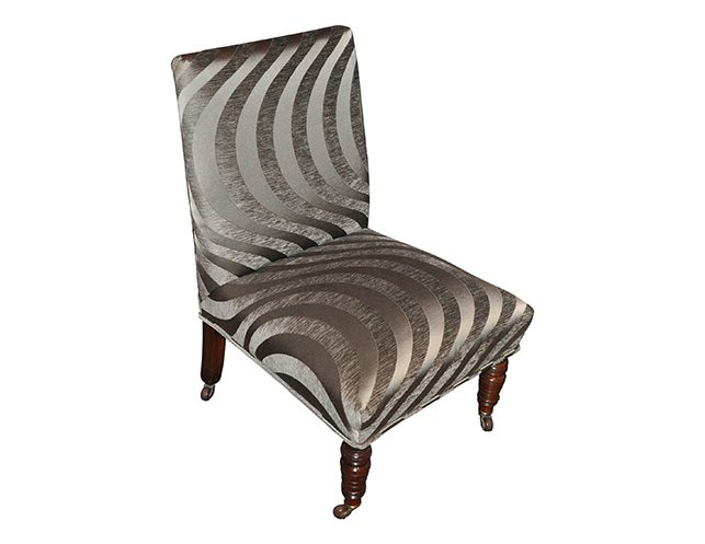 grey velvet slipper chair wooden glider with ottoman antique in silk cut on casters the local vault