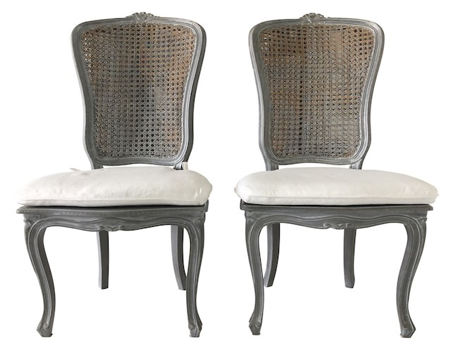 antique cane chairs chair design textile french with cushions the local vault go back previous next