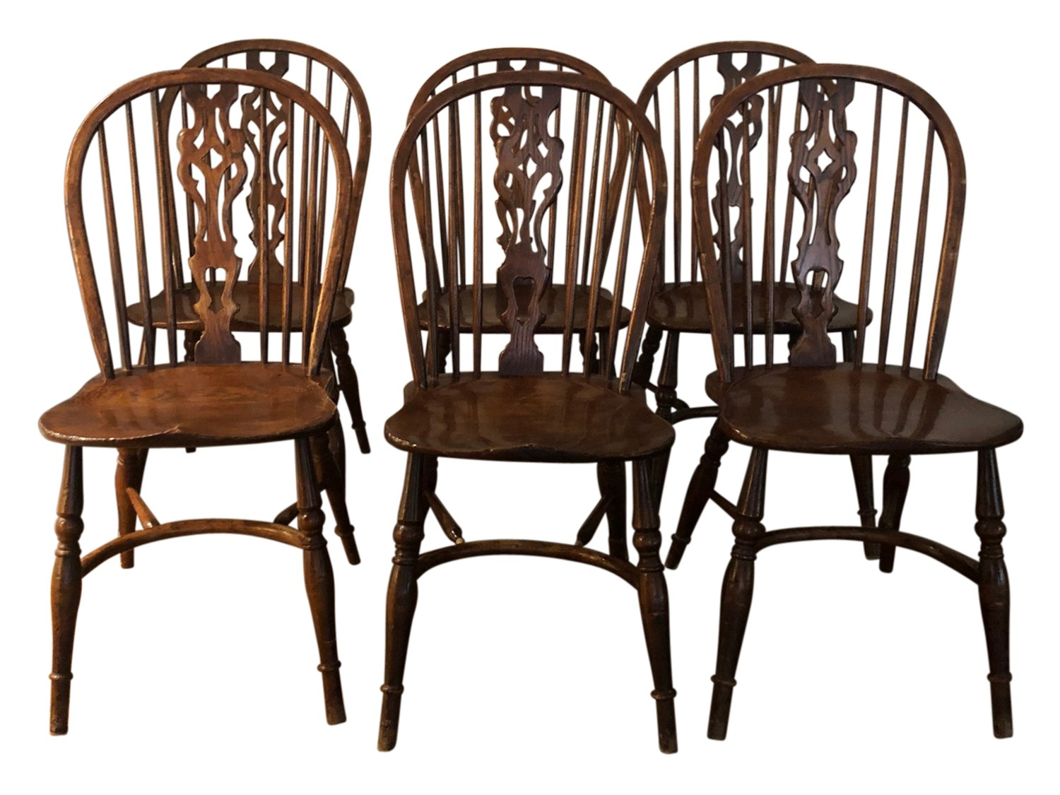 Dining Chair Set Of 6 English Wheelback Windsor Dining Chairs Set Of 6