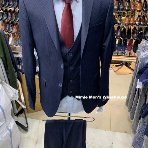 Navy Blue Stripped Suit for Men Nairobi