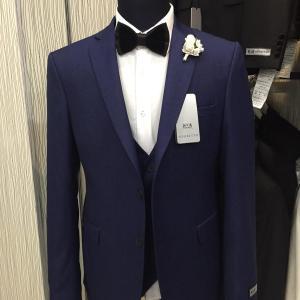 Negretto Turkish 3-piece slim fit suit Nairobi Navy Blue