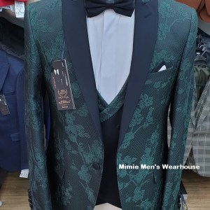 Print Jungle Green with Navy Blue Readymade Turkey Suits In Kenya